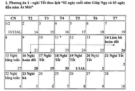 Công bố chính thức lịch nghỉ các ngày lễ, Tết năm 2015